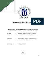 Monografia Sistema Internacional de Unidades
