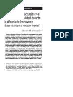 Basualdo, Eduardo - Las Reformas Estructurales y El Plan de Convertibilidad en Los 90.