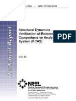Structural Dynamics Verification of Rotorcraft Comprehensive Analysis System RCAS NREL TP-500-35328