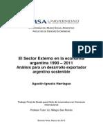 El Sector Externo en la economía argentina 1990 – 2011 Análisis para un desarrollo exportador argentino sostenible