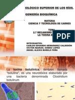 mecanismo de accion de la toxina botulínica