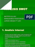 Analisis Swot Materi Kuliah Mp