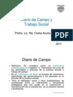 Diario de Campo en El Trabajo Social