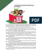 CUANTAS CONSTITUCIONES POLÍTICAS HA TENIDO EL PERÚ