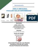 Modelo Unicausal Proceso Salud Enfermedad