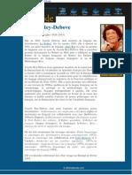 Qui Est Josette Ray-Debove