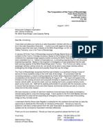 milne road bridge letter to wood lake cottagers association aug 1 2013