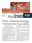 Iloilo, Guimaras heritage, tourism sites to go online, Panay News, 29 SEP 2013