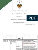 Tarea Informática, actividad 3 PROCESO DE OBTENCION DEL PASAPORTE