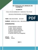 Monografia- Obligaciones de Dar