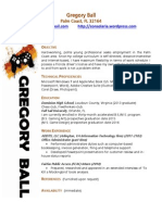 Gregory Ball Resume