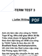 MID –TERM TEST 3 exercise