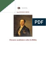 Discurso Académico sobre la Biblia Juan Donoso Cortés