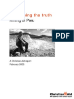Christian Aid (2005) Unearthing the Truth, Mining in Peru. a Christian Aid Report