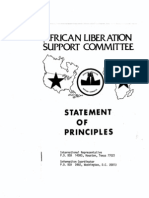 African Liberation Support Committee_Statement of Principles