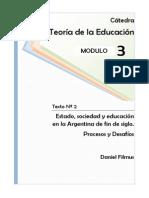 SOCIO-POLITICA FILMUS Estado, Sociedad y Educacion
