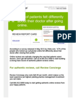 47% of patients felt differently about their doctor after going online