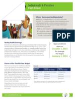 Washington Healthplanfinder Fact Sheet