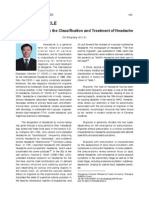 Current Progress in the Classification and Treatment of Headache