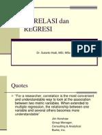 96025730 Statistik Inferensial Korelasi Dan Regresi