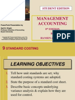 Hansen and Mowen Management Accounting CH 9