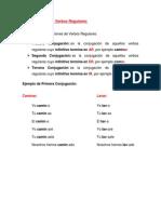 Guía de aprendizaje - Conjugaciones verbales