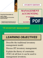 Hansen and Mowen Managerial Accounting CH 14