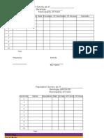 Population Survey Per Purok