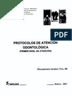 Protocolos de Atencion Odontologica - Bolivia 2003