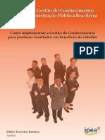 Modelo de Gestão do Conhecimento para a Administração Pública Brasileira. Livro