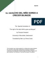 El derecho del niño Sordo a crecer bilingüe