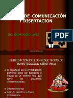 CLASE 16- FORMAS DE  COMUNICACIÓN Y DISERTACION (1)