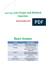 Spring Bean Scope Method Injection