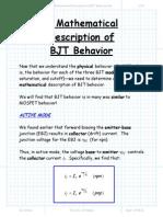 A Mathematical Description of BJT Behavior