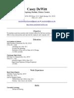 caseydewitt resume 09302013
