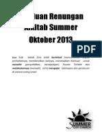Panduan Renungan Alkitab Summer Untuk Oktober 2013