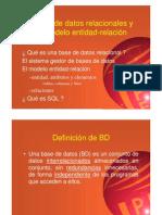 Bases de datos y modelo entidad y relación UML