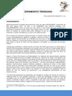 Ponencia-Discernimiento Teresiano-Fray Jorge Mario Naranjo M.