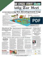 The Daily Tar Heel for September 30, 2013