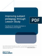 Improving Subject Pedagogy Through Lesson Study-1