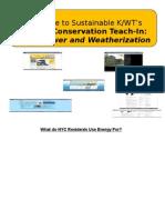 Sustainable K/WT Teach-In Slides