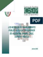 FATSE003 Los Modelos de Financiamiento Publico a Educacion..