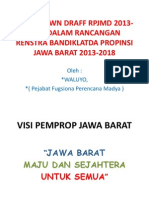 Rancangan Renstra Bandiklatda Propinsi Jawa Barat 2013-2018