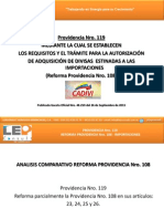 CADIVI Providencia Nro. 119 - Reforma Parcial Providencia Nro. 108 - Importacions