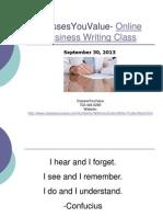 Online Business Writing Class