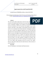 Quality Improvement of an Acid Treated Fuel Oil