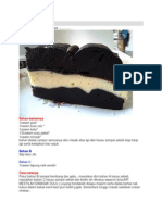 Kek Coklat Cheese