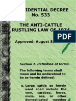 The Anti Cattle Rusting Act PD 533