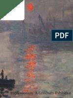 Impressionism a Centenary Exhibition