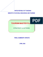 tourism master plan in Tanzania